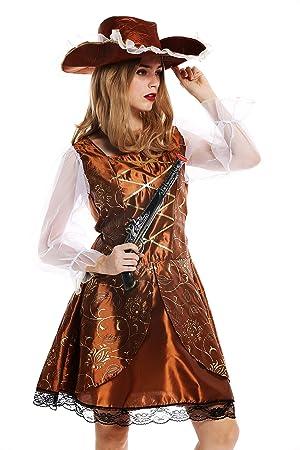 dressmeup - W-0041-S/M Disfraz Mujer Feminino Pirata ...