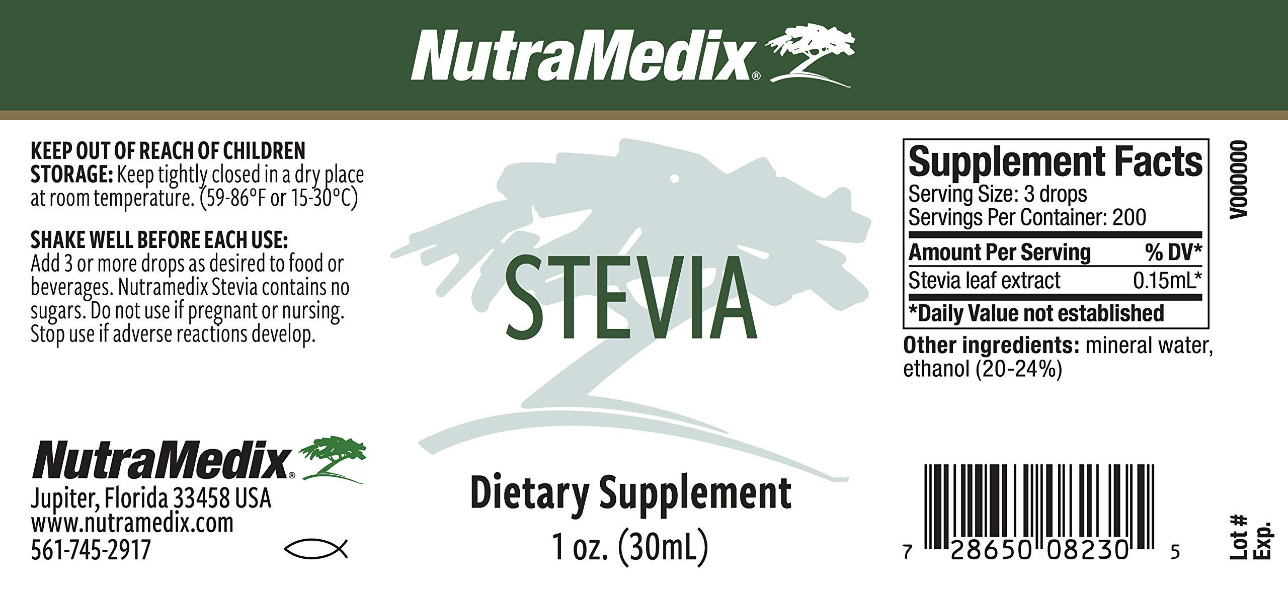 NutraMedix Stevia - 1 oz (30mL)