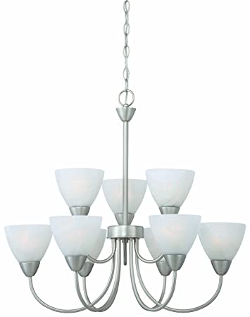 Thomas Lighting 190036117 Tia Chandelier, Matte Nickel