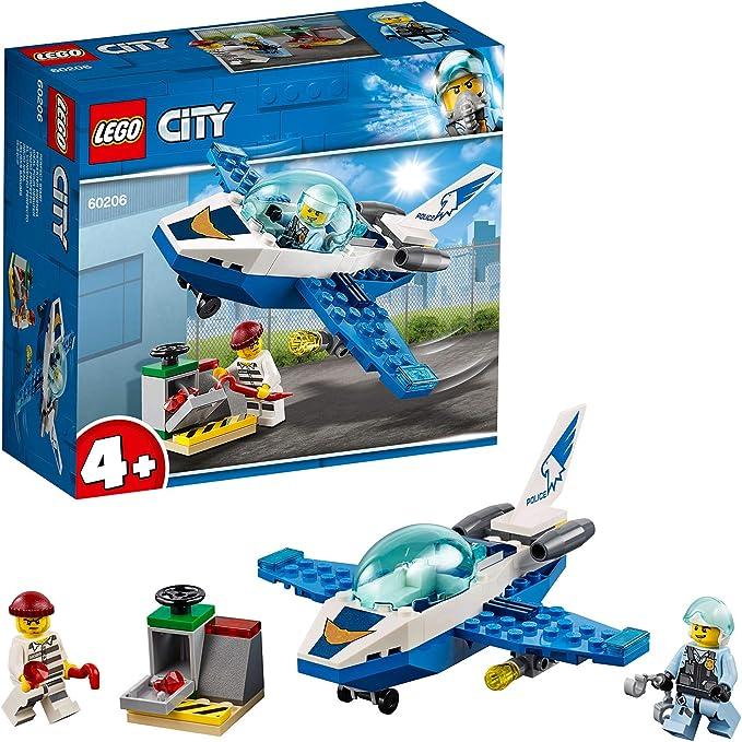 LEGO City Police - Policía Aérea: Jet Patrulla, Set de Construcción Creativo de Avión de Juguete para Recrear Aventuras (60206): LEGO: Amazon.es: Juguetes y juegos