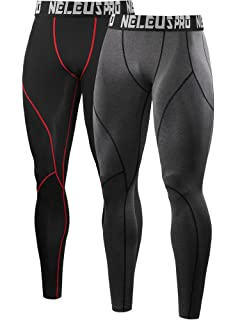 Baoblaze Mens Sports Compression Cool Dry Pants Workout Tights Running Base Layer Leggings 2 Pack XXL