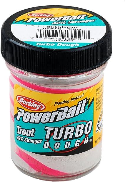Berkley PowerBait Glitter Turbo Dough 1.75 oz Jar Trout Fishing Lure Dough Bait