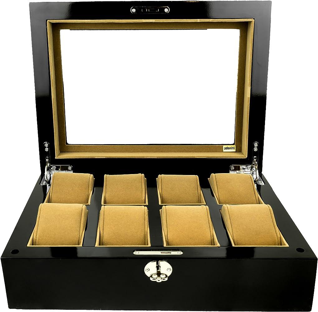 Adorini Caja Deluxe para Relojes - Espacio para 8 Relojes, Gemelos ...