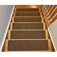 Stair Treads Collection Set Of 13 Indoor Skid Slip Resistant Brown Carpet Stair  Tread Treads (
