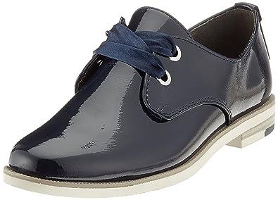 Marco Tozzi Damen 23201 Derbys, Blau (Navy Patent), 39 EU