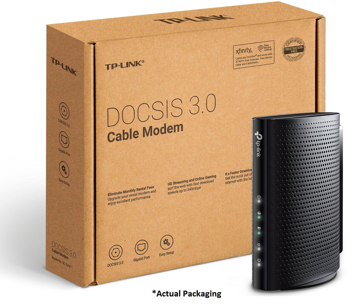Amazon com: TP-Link DOCSIS 3 0 (8x4) High Speed Cable Modem