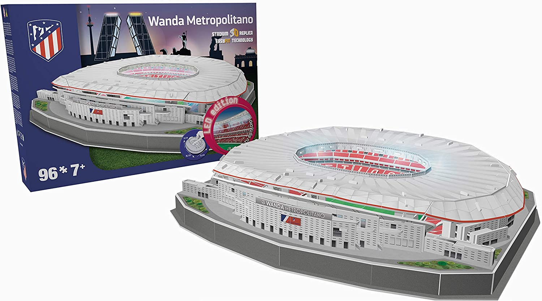 NANOSTAD Estadio Wanda Metropolitano LED Edition (Club Atletico de Madrid) Puzzle 3D (Producto Oficial Licenciado)