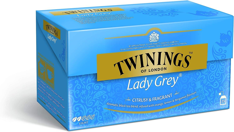 Twinings Lady Grey 50g, 25 bolsas, 1 paquete (1 x 50 g): Amazon.es: Alimentación y bebidas