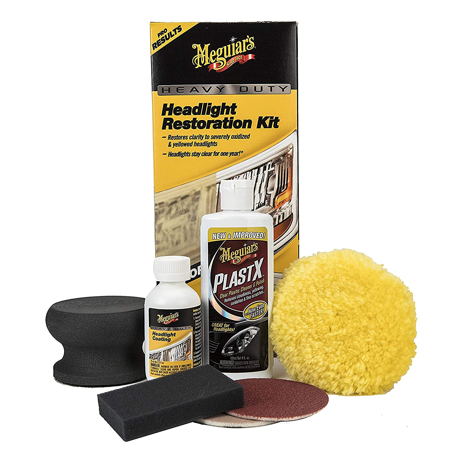 Meguiar's G2980 Heavy Duty Headlight Restoration Kit Meguiar' s