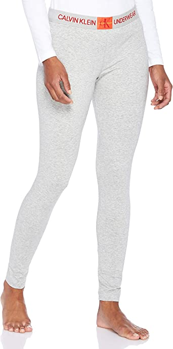 Calvin Klein Womens Monogram Leggings Grey Medium Amazon Co Uk Clothing