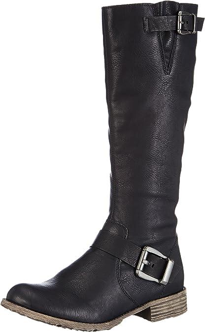 Rieker Damen Stiefel Stiefelette Boots schwarz Reißverschluß