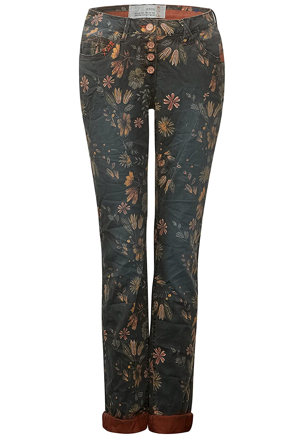 CECIL Flower-Print Hose New York Damen B370395