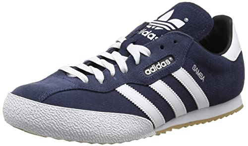 adidas Men's Samba Super Suede Trainers, Blue (Navy/Running White Footwear),