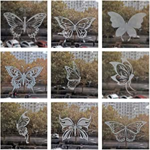 MRTAILOR 36Pcs Window Decals Stickers for Birds Strikes for Sliding Glass Windows Doors to Protect Birds, Window Clings Birds Deterrent Window Decals for Glass Windows Alet (Butterfly Sticker)