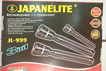 Rechargeable Led Flashlight 3 In 1