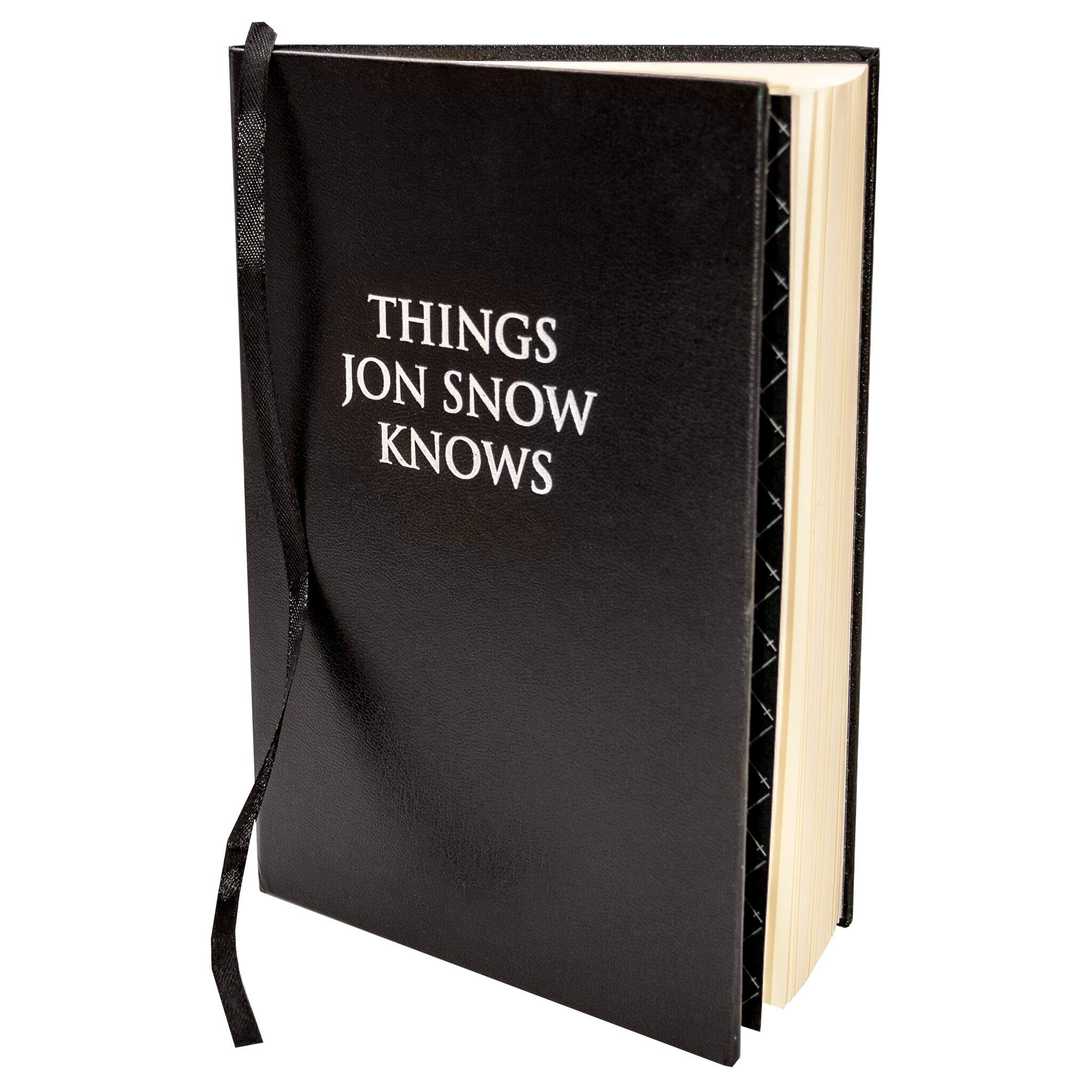 Game of Thrones Things Jon Snow Knows Journal Notebook | Blank Slate for Sketches or Writing | Perfect Gift for Men & Women by Game of Thrones
