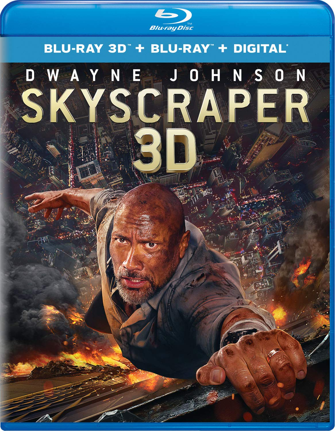 Blu-ray 3D : Skyscraper (With Blu-ray, 3 Dimensional, 2 Pack, Digital Copy)