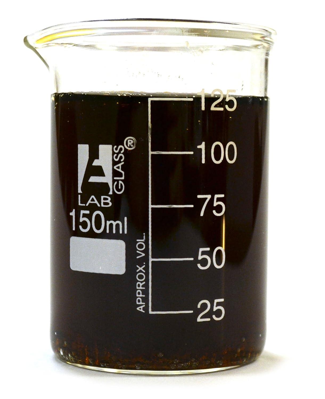 Eisco Labs Beaker - 150mL, Borosilicate Glass, 25mL graduation Low form