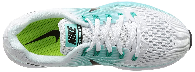 Amazon.com   NIKE Womens Air Zoom Pegasus 34 White/Black Aurora Green Running Shoe 6 Women US   Road Running
