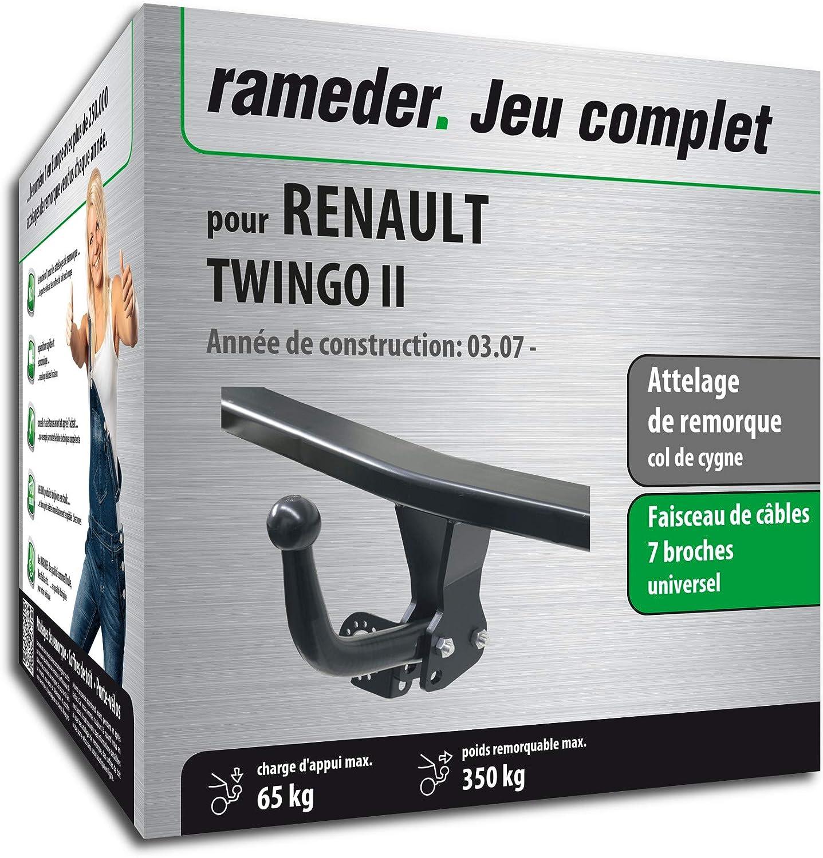 Rameder Attelage démontable avec Outil pour Renault TWINGO II + Faisceau 7 Broches (130524-05611-1-FR)