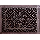 """Decorative Grille, Vent Cover, or Return Register. Made of Urethane Resin to fit over a 14""""x20"""" duct or opening. Total size of vent is 16""""x22""""x3/8"""", for wall and ceiling grilles (not for floor use)."""