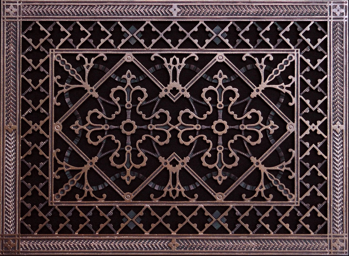 """Decorative Grille, Vent Cover, or Return Register. Made of Urethane Resin to fit over a 14''x20'' duct or opening. Total size of vent is 16""""x22''x3/8'', for wall and ceiling grilles (not for floor use)."""
