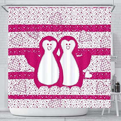 Image Unavailable Not Available For Color Cute Penguin Bird Print Shower Curtain