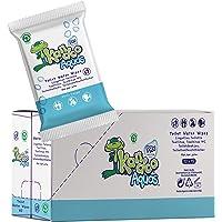 Kangdoo Aquas 15 wegwerpdoekjes, veelzijdig inzetbaar, 99% water, 12 verpakkingen