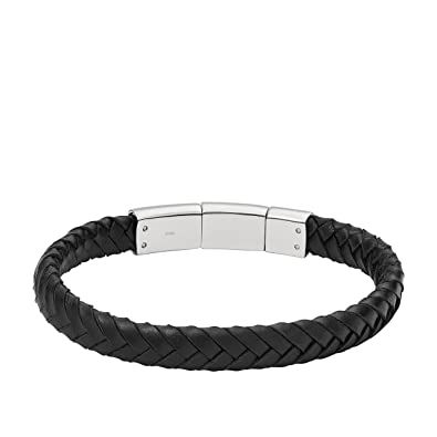 Fossil Herren Armband JF02472040, schwarz