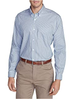 2f06809369 Eddie Bauer Men s Wrinkle-Free Classic Fit Pinpoint Oxford Shirt - Blues