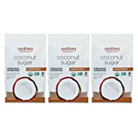 3-Pack Nutiva Organic Unrefined Granulated Coconut Sugar 1 Pound Deals
