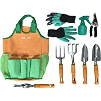 Juego de herramientas de jardín   Bolsa organizadora de herramientas de jardín   Guantes de jardinería incluidos grandes…