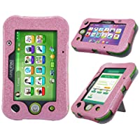 LeapPad Ultimate Case - HOTCOOL New PU Leather with Kickstand Cover Case for Leapfrog LeapPad Ultimate Kids Tablet, Glitter Pink