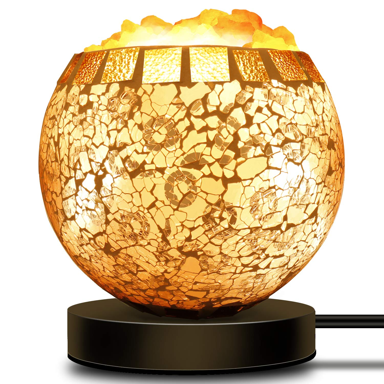 Coowoo Smart Wireless Salt Lamp Works With Alexa Echo Google