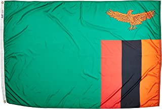product image for Annin Flagmakers Model 199484 Zambia Flag Nylon SolarGuard NYL-Glo, 4x6 ft, 100% Made in USA to Official United Nations Design Specifications
