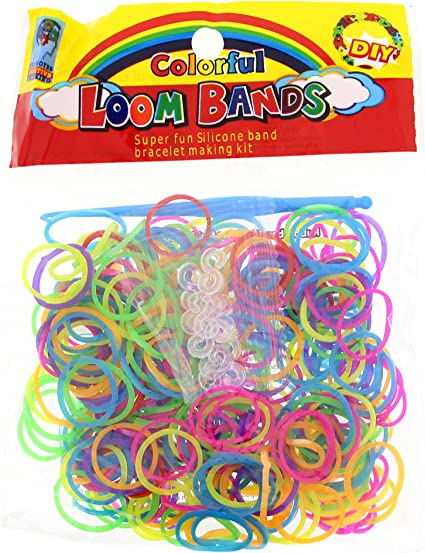 Hook Tool UK Seller Sale 1200 Loom Bands Kids Toy Rubber Refill With S Clips