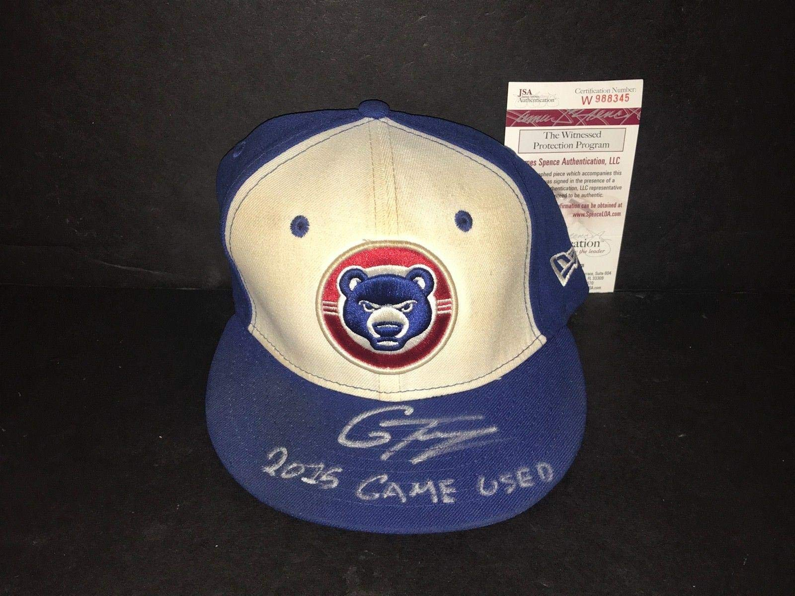 Gleyber Torres Yankees Cubs Signed 2015 Game Used Hat CAP WITNESS COA JSA Certified Game Used MLB Hats