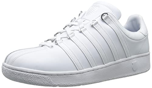 d6791070 K-Swiss Classic VN Tenis Choclo Casual para Hombre, color Blanco/Blanco,