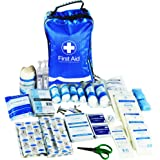 JFA 170 Piece Comprehensive First Aid Kit Bag – includes Emergency blanket, Ice pack, Wound closure strips, Bandages and Dressings, suitable for Home, Workplace, Car and Travel (Blue)