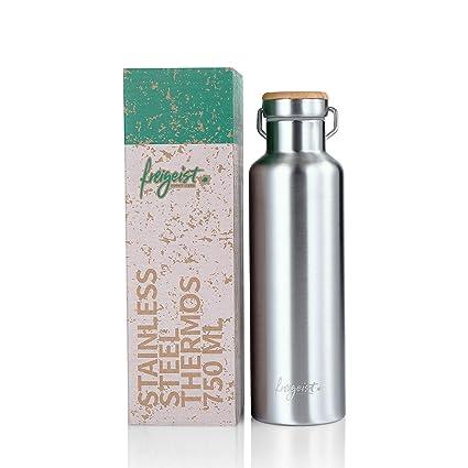 freigeist - Termo (750 ml, botella de acero inoxidable con ...