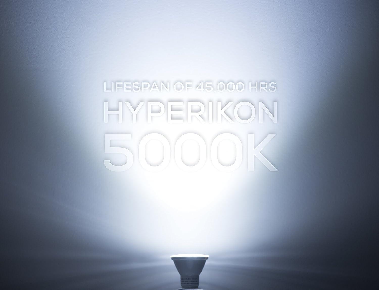 HyperSelect 8W LED PAR20 Light Bulb, Non Dimmable 50W Equivalent, 5000K (Crystal White Glow), E26 Medium Screw Base, 40° Beam Angle, Pot Light Bulbs, UL-Listed (Pack of 6) 40° Beam Angle Hyperikon Inc.