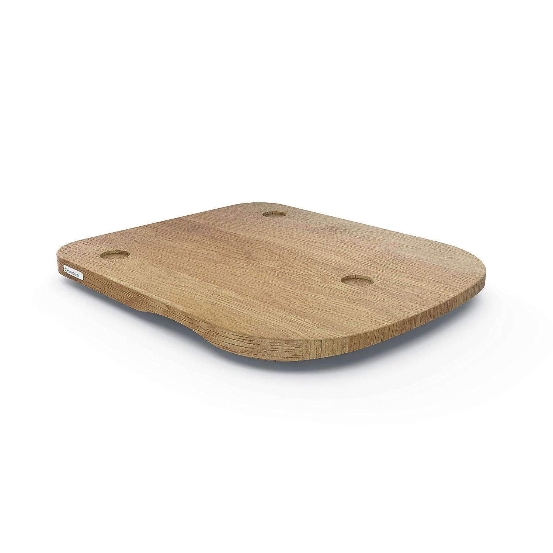 Tabla de base para TM5 o TM31 de ThermosSider H (madera maciza, impermeable, deslizante) 36 x 30 x 2,8 cm Eiche (für Tm5)