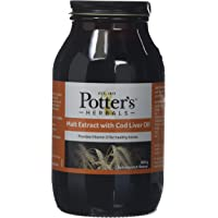 Potters Malt Extract and Cod Liver Oil with Butterscotch 650 g
