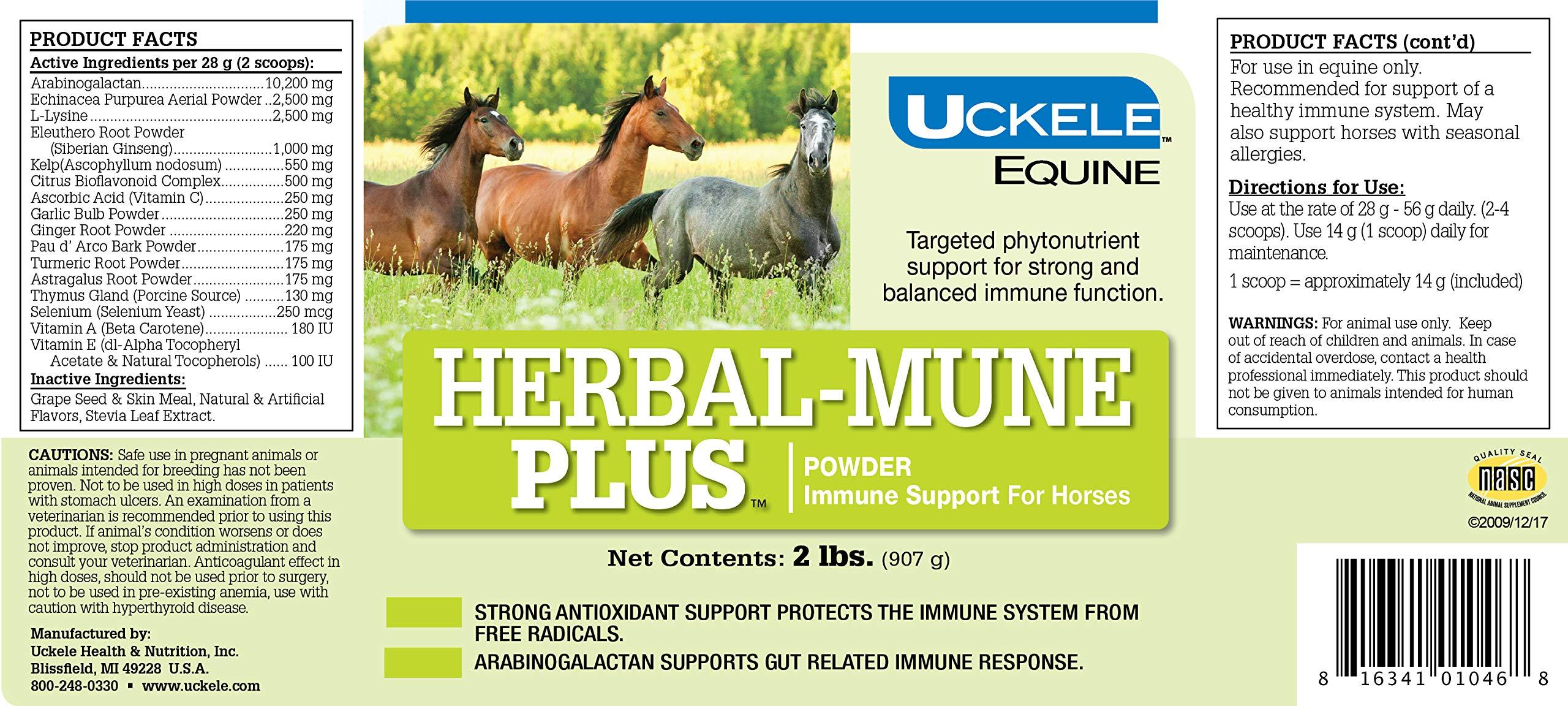 Uckele Herbal-Mune Plus Horse Supplement, 2-Pound by Uckele