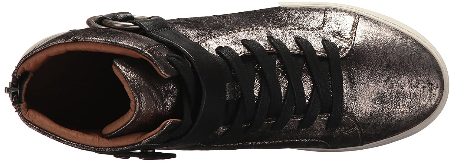 FRYE Women's Lena Harness High Fashion Sneaker B01N0TAG9S 5.5 B(M) US|Gold/Metallic Leather