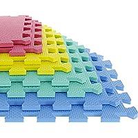 Foam Mat Floor Tiles, Interlocking EVA Foam Padding by Stalwart – Soft Flooring for Exercising, Yoga, Camping, Kids…