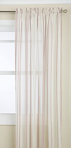 LORRAINE HOME FASHIONS Hastings Tailored Window Curtain Panel, 52 by 84-Inch, Burgundy