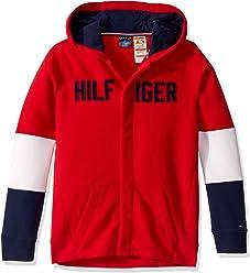 Tommy Hilfiger Girls Adaptive Sweater with Adjustable Shoulder Closure