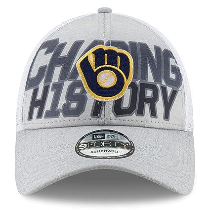 6044677e47f56 Amazon.com   New Era Milwaukee Brewers 2018 Division Series Winner ...