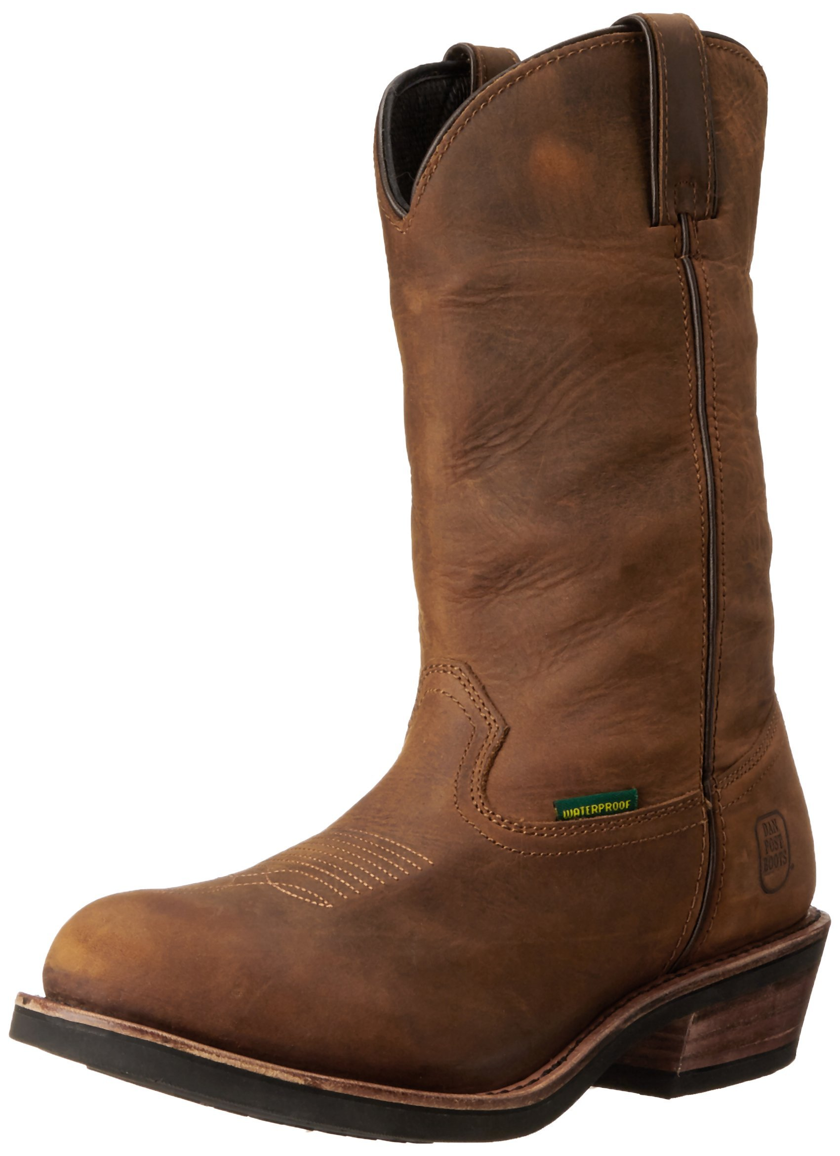 Dan Post Men's Albuquerque Waterproof Boot,Mid Brown Oily,11  EW US